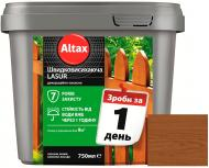 Лазурь быстросохнущая Altax Lasur декоративно-защитная каштан полумат 0,75 л