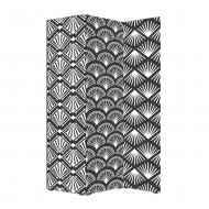 Ширма Теамо Узор черный и белый 115х170 см