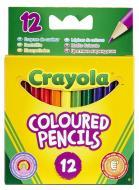 Олівці кольорові 12 шт./уп. короткі Crayola