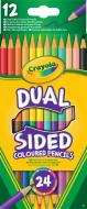 Карандаши цветные 12 шт./уп. двусторонние Crayola
