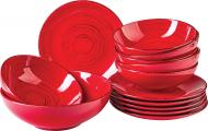 Сервиз столовый Antique red 13 предметов на 6 персон Bella Vita