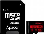 Карта пам'яті Apacer microSDHC 16 ГБ UHS Speed Class 1 (U1)Class 10 (AP16GMCSH10U5-R) AP16GMCSH10U5-R