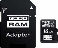 Карта пам'яті Goodram microSDHC 16 ГБ Class 10 (M1AA-0160R12)