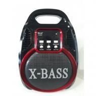 Колонка комбик Golon RX-820 BT Bluetooth mp3 радиомикрофон пульт цветомузыка Черный с красным (25867