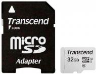 Карта пам'яті Transcend microSDHC 32 ГБ UHS Speed Class 1 (U1)Class 10 (TS32GUSD300S-A)