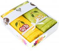 Набор салфеток Вишни 40x70 см желто-зеленый IDEIA