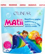 Туалетний папір вологий O'Linear дитячий змінний блок 120 лист./рулон 1 шт.
