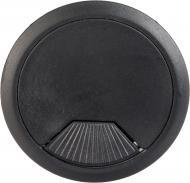 Заглушка для проводов черная К-02 DC