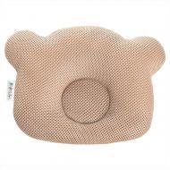 Подушка ортопедическая IDEIA Мишка Бейби 20х27х5/3.5 см сетка бежевый 8000032377