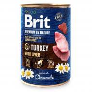 Консерва Brit Premium для собак з індичкою та індюшиною печінкою 400 г