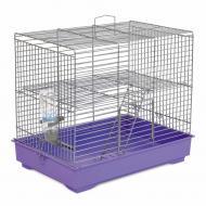 Клітка Природа для гризунів Міккі з драбинкою, хром/фіолетова