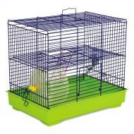 Клітка Природа для гризунів Міккі з колесом синьо-зелена
