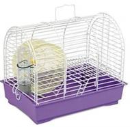 Клітка Природа для гризунів Фаворит з колесом, біла/фіолетова