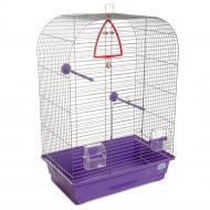 Клітка Природа для птахів Ауріка, хром/фіолетова