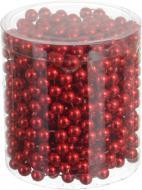 Декорация новогодняя Бусы красные 0,8х800 см