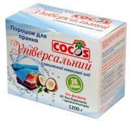 Пральний порошок для машинного та ручного прання Cocos з омиленої кокосової олії 1,2 кг