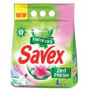 Пральний порошок для машинного та ручного прання Savex Parfum Lock 2in1 Fresh 4 кг