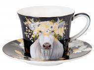 Чашка для кофе с блюдцем Белое золото 100 мл 924-594 Lefard