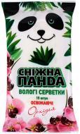 Вологі серветки Сніжна Панда Орхідея 15 шт.