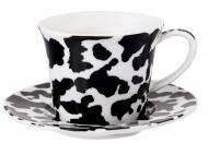 Чашка с блюдцем черно-белая 100 мл 924-613 Lefard