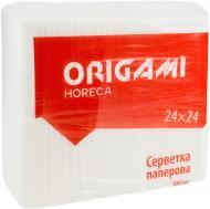 Серветки столові Origami Horeca 24х24 см білі 500 шт.