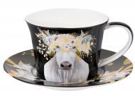 Чашка с блюдцем Белое золото 220 мл 924-592 Lefard