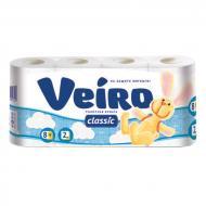 Туалетний папір Veiro Classic двошаровий 8 шт.