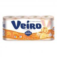 Туалетний папір Veiro Classic пастель абрикос двошаровий 8 шт.