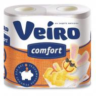 Туалетний папір Veiro Comfort з малюнком двошаровий 4 шт.