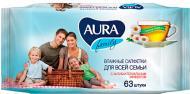 Вологі серветки Aura Family 63 шт.