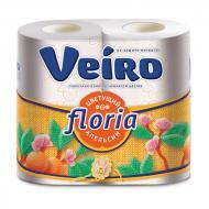 Туалетний папір Veiro Floria апельсин двошаровий 4 шт.