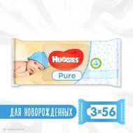 Серветки Huggies Ultra Comfort Pure 2+1 56х3 168 шт.
