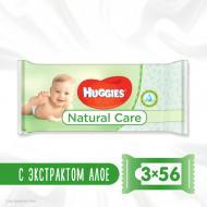 Дитячі вологі серветки Huggies Natural Care 2+1 56х3 168 шт.