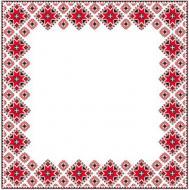 Серветки столові La Fleur Вишивка 33х33 см білий 20 шт.