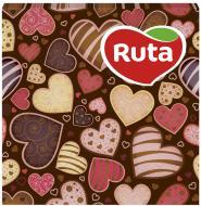 Серветки столові Ruta Серце, з друком ароматизовані 33х33 см червоний 20 шт.