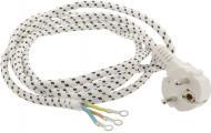 Шнур для праски в тканинної оплітці  EMT 3x1,0 мм 2 м