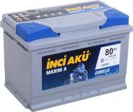 Акумулятор автомобільний INCI Maxim A (Gorilla) 80А 12 B L3 080 076 013 «+» праворуч