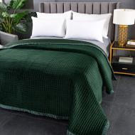 Покрывало Velvet Preston 240x260 см La Nuit зеленый
