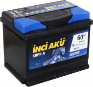 Акумулятор автомобільний INCI Supra (Sentor) 60А 12 B L2 060 054 013 «+» праворуч