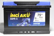 Акумулятор автомобільний INCI Supra (Sentor) 75А 12 B L3 075 070 013 «+» праворуч