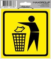 Наліпка MAXGROUP Місце для сміття NM-032