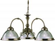 Люстра підвісна Arte Lamp AMERICAN DINER 3xE27 антична бронза A9366LM-3AB
