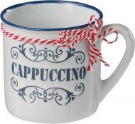 Чашка Cappuccino 360 мл біла з синім