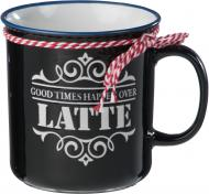Чашка Latte 690 мл черная Bella Vita