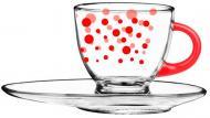 Чашка с блюдцем Red Dots 230 мл 50-0406-02-7195-17 Glasmark