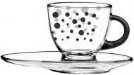 Чашка с блюдцем Black Dots 230 мл 50-0406-02-7195-25 Glasmark