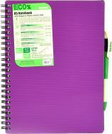 Блокнот Eco Pen A5 80 аркушів фіолетовий Mintra