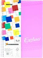 Блокнот Excluso A4 72 аркуша рожевий з малюнком Mintra