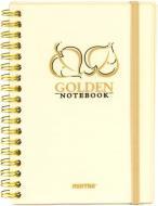 Блокнот Golden & Silver A6 80 аркушів золото Mintra