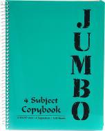 Блокнот Jumbo A4 90 аркушів темно-зелений з малюнком Mintra